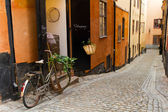 The old street in Stockholm. — Stock Photo