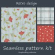 Royalty-Free Stock Векторное изображение: Retro seamless pattern kit