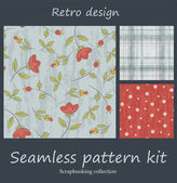Retro seamless pattern kit — Stock Vector