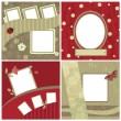 Set of beautiful frames for scrapbooking - 图库矢量图片