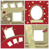 Set of beautiful frames for scrapbooking — Stock Vector