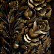 Wood carving patterns — Stock Photo