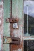 Locked door — Stock Photo