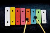 Color iron piano — Stock Photo