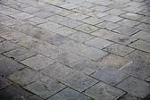 Weathered concrete floor bricks — Stock Photo