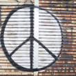 Graffiti on a wall - Peace — Stock Photo