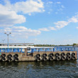 Dnieper harbor ships panorama — Stock Photo