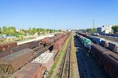 Rails en aangereden — Stockfoto
