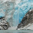 Stock Photo: Calving on Northwest Glacier