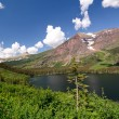 High Mountains of Glacier National park — Stock Photo