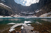 Ice on an alpine Lake — Stock Photo