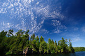 High clouds in the North Woods — Stock Photo