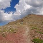 Heading down an alpine trail — Stock Photo #7316265
