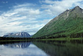 Kenai Peninsula Mountains in the summer — Stock Photo