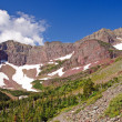Stock Photo: Red Peaks in Wilds