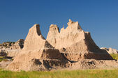 Badlands formation in the summer heat — Stock Photo