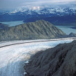 Glacier heading to the ocean - Stock Photo