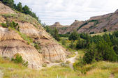 Trail into the Badlands — Stock Photo
