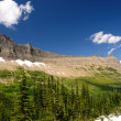 Mountain ridge with summer snow — Stockfoto