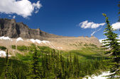 Mountain ridge with summer snow — Stock Photo