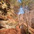 Stock Photo: Bluff Trail in late fall
