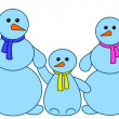 Stock Photo: Snowballs family