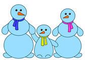 Snowballs family — Stock Photo