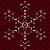 Snowflake from snowflakes — Stock Photo