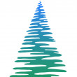 Christmas fir-tree, pictogram — ストック写真