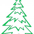 Christmas fir-tree, pictogram — Foto de Stock
