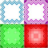 Abstract geometrical pattern, set — Stock Photo
