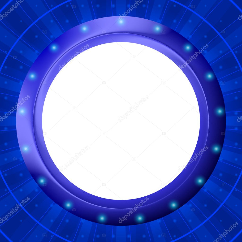 Abstract background, blue round frame - porthole on wall — Stock Photo #6993536