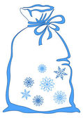 Bag with snowflakes — Stock Photo