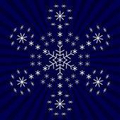 Snowflake from snowflakes — Stock Photo