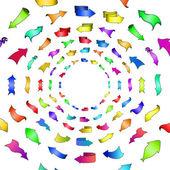 Abstract arrows, circle — Stock Vector