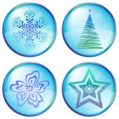 Christmas icons buttons — Stock Photo