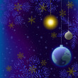 Christmas background, snow in space — Stock Photo #7437103