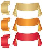 Set de rubans de bannières — Vecteur