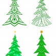 Christmas trees, set — Stockfoto