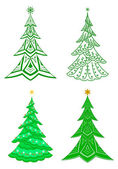 Christmas trees, set — Stock Photo