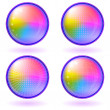 Icons buttons rainbow, set, round — Stock Photo