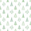 Christmas trees, seamless - Stock Photo