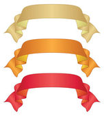Banners ribbons, set — Stockfoto