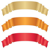Banners ribbons, set — Foto de Stock