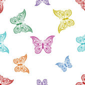 Background, butterflies — Stock Vector