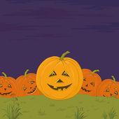 Halloween pumpkins army — Stock Photo