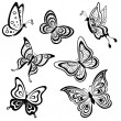 Stock Photo: Butterflies, contours