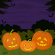 Royalty-Free Stock Photo: Pumpkins Jack O Lantern family