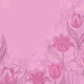 Flower pink background — Stockvektor