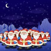 Santa Claus army — Stok Vektör